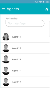 Liste agents