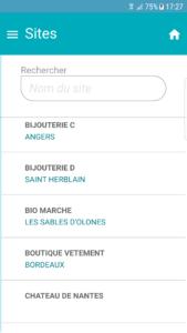 Liste sites